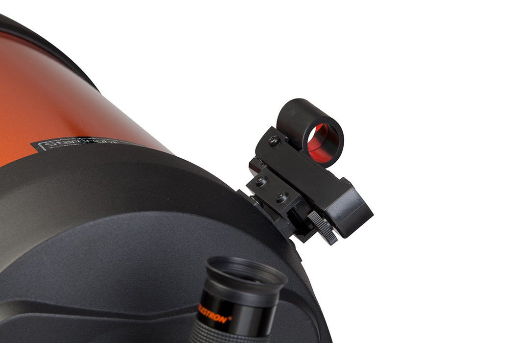 Celestron Star Pointer Finderscope - rear view attached to a telescope