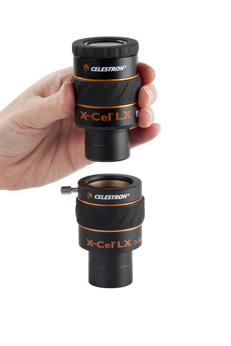 "Celestron X-Cel LX 1.25"" Barlow Lenses - inserting an eyepiece"