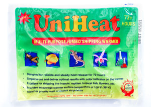 #50 - 72 hour UniHeat Shipping Warmer Pack - FREE SHIPPING