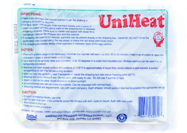72 hour UniHeat Shipping Warmer Pack - ADD ON ITEM