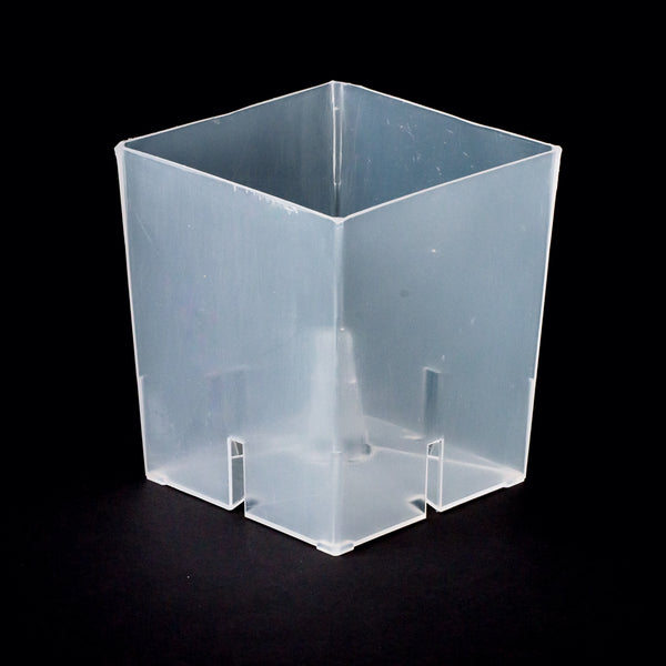 "RANDS Aircone Pots - Clear Square - 4"" Orchids Pots - Qty 4"