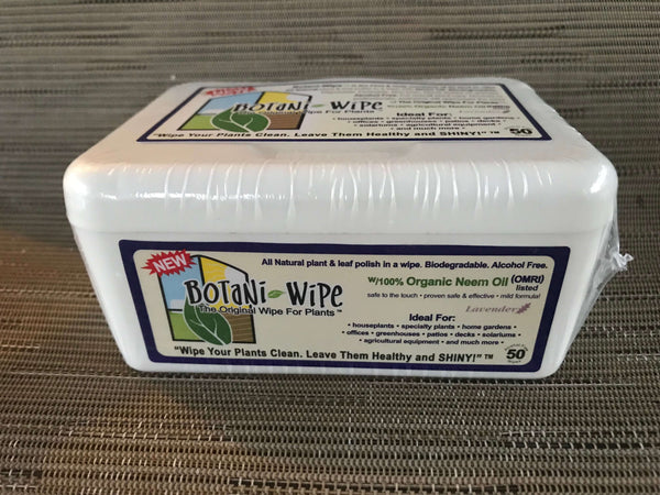 Botani Wipes - Neem Oil, Biodegradable - Orchid Plant Care
