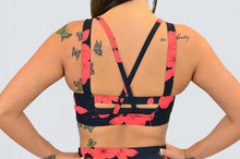 Load image into Gallery viewer, Hibiscus Strappy Sports bra