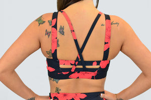 Hibiscus Strappy Sports bra
