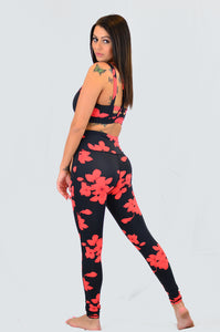 Highwaist Hibiscus Leggings (Not Mesh)