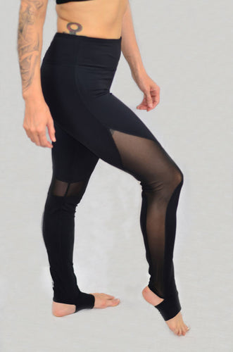Black Mesh Compression Leggings