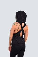 Load image into Gallery viewer, Cross Back Sleeveless Hoodie