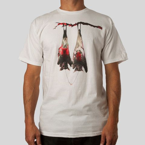 David Choe x UPPER PLAYGROUND | Bat Fangs Tee in White