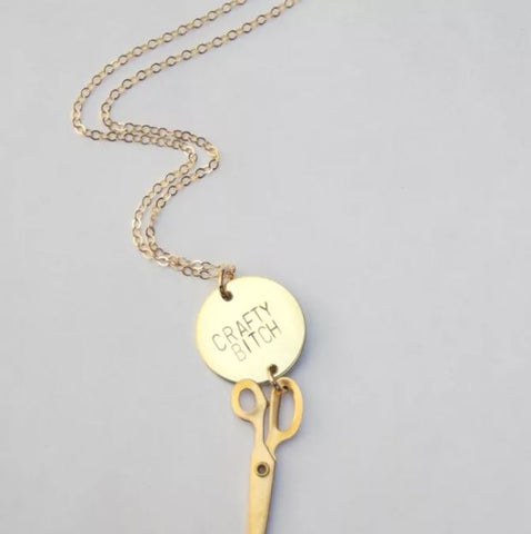 BANG-UP BETTY | Crafty Bitch Scissors Necklace