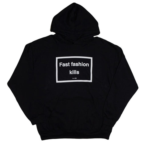 SKIM MILK | FAST FASHION KILLS Hoodie in Black