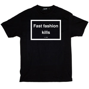 SKIM MILK | FAST FASHION KILLS Tee in Black