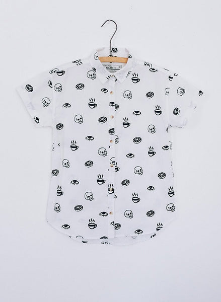 PYKNIC | Women's Morning Glory Button Button Up Top
