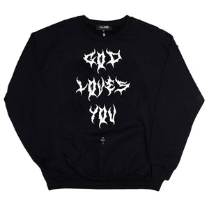 SKIM MILK | God Loves You Crewneck Sweatshirt