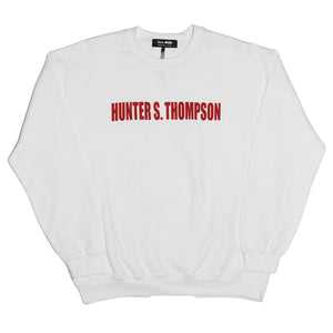 SKIM MILK | HUNTER S. THOMPSON Crewneck Sweatshirt in White