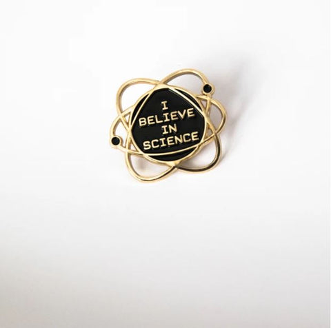 BANG-UP BETTY | I Believe In Science Enamel Pin