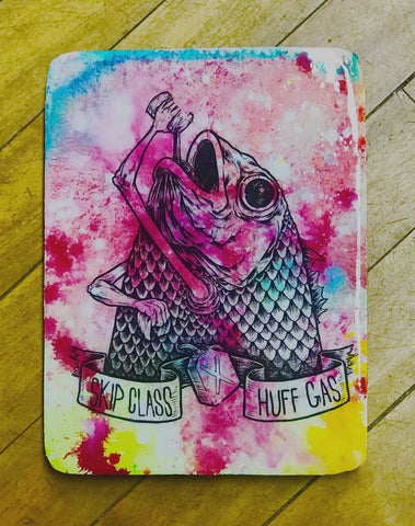 "KILLER NAPKINS | ""SKIP CLASS HUFF GAS"" 9X12 ACRYLIC TRANSFER TRAY"