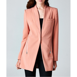 INA | Power Suiting Blazer Boyfriend Jacket in Millennial Pink