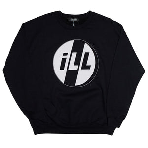 SKIM MILK | ILL Crewneck Sweatshirt in Black
