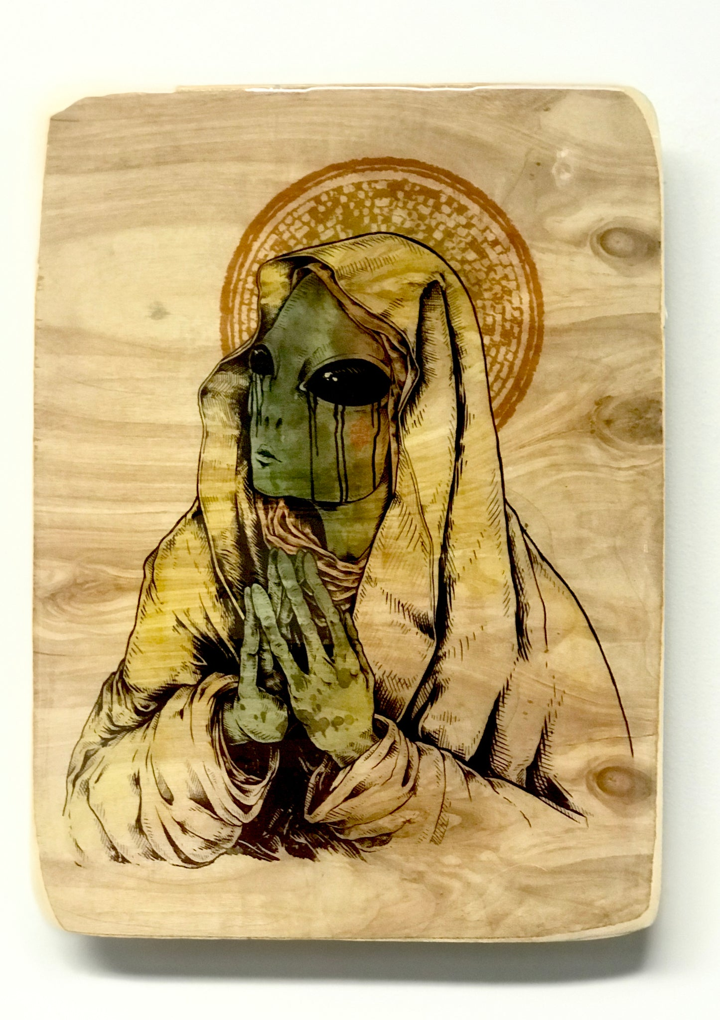 "KILLER NAPKINS | ""MOTHER MARY"" 9X12 ACRYLIC TRANSFER TRAY NATURAL"