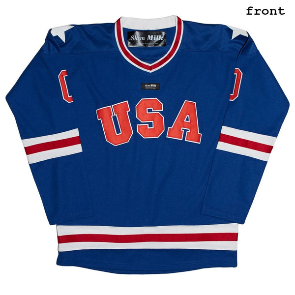 SKIM MILK | NO GOALS USA Hockey Jersey in Blue