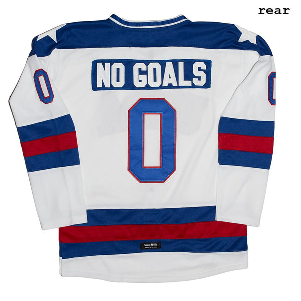 SKIM MILK | NO GOALS USA Hockey Jersey in White