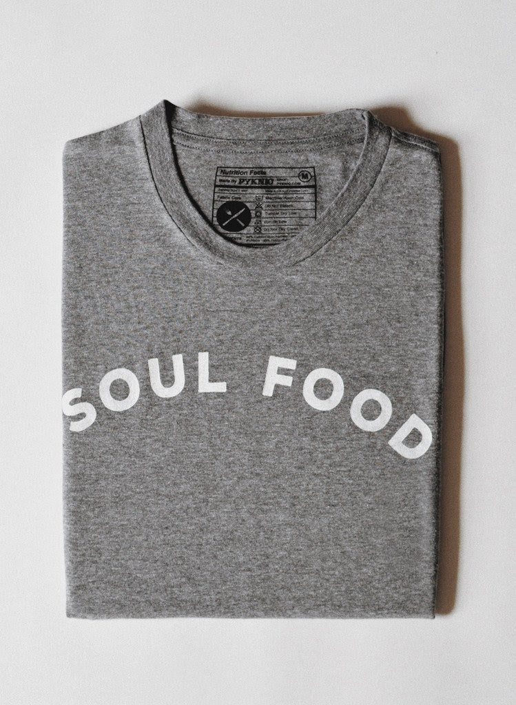 PYKNIC | Soul Food Tee in Heather Grey & Black