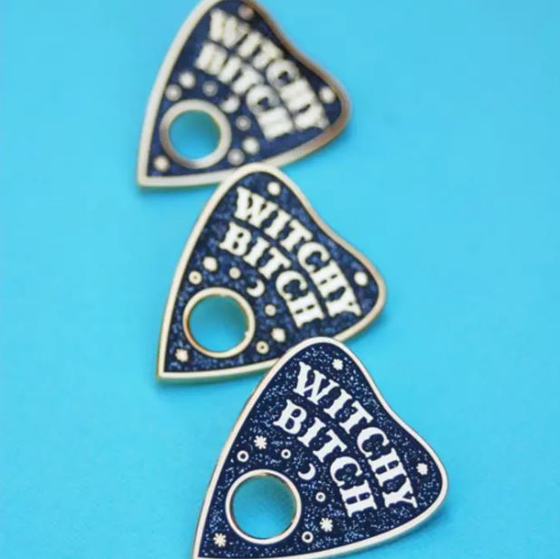 BANG-UP BETTY | Witchy Bitch Enamel Lapel Pin