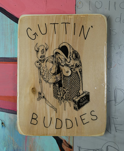 "KILLER NAPKINS | ""GUTTIN' BUDDIES"" 9X12 ACRYLIC TRANSFER TRAY"
