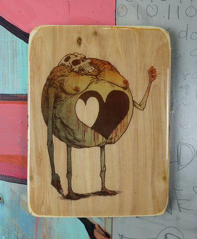 "KILLER NAPKINS | ""ROUND LOVE"" 9X12 ACRYLIC TRANSFER TRAY"