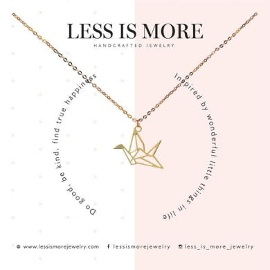LESS IS MORE | Cutout Crane Necklace | 14k Gold Filled
