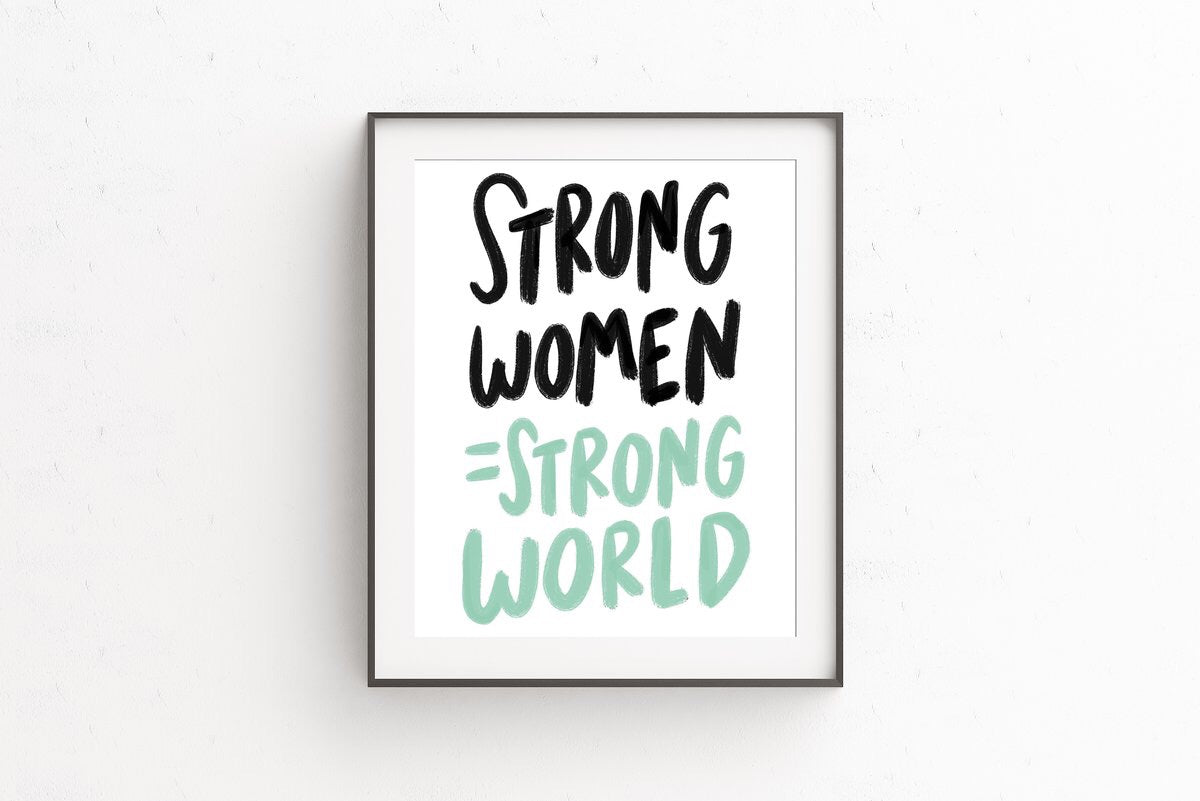 CRAFT BONER | Strong Women, Strong World 8x10 Print