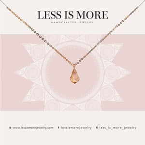 LESS IS MORE | Topaz Baroque Necklace 14k