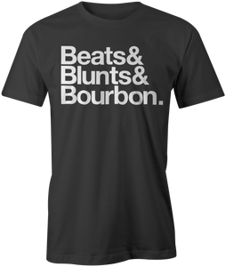 Beats&Blunts&Bourbon. | Men's OG Tee in Black & White