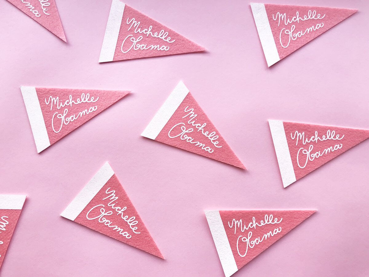 CRAFT BONER | Michelle Obama Mini Pennant