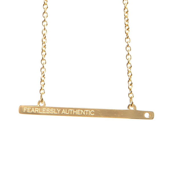 JAECI | FEARLESSLY AUTHENTIC GOLD BAR NECKLACE