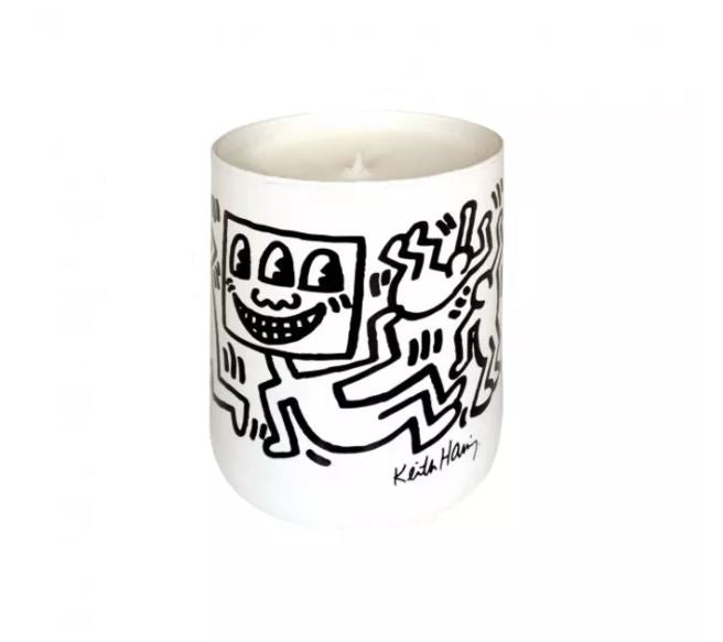 THOMPSON FERRIER | KEITH HARING CANDLE WHITE & BLACK