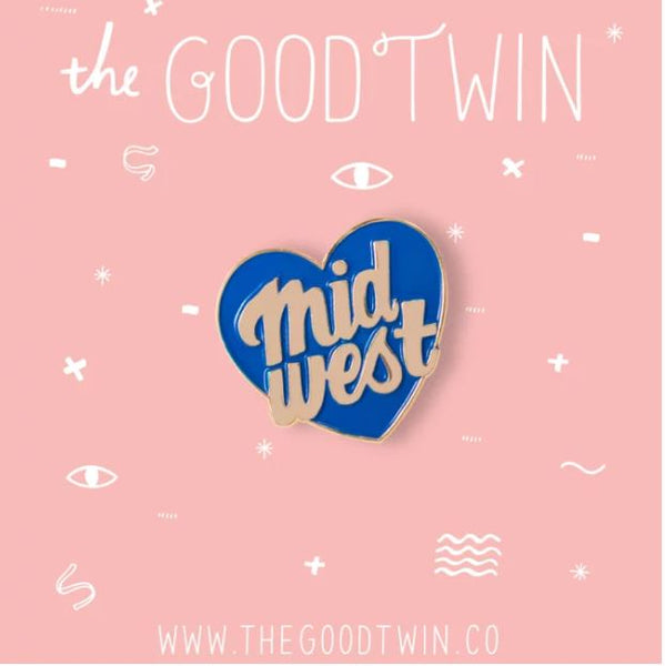 THE GOOD TWIN | Midwest City Pin + Post Card (3x3.75)