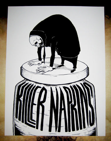 KILLER NAPKINS | SKULL SUIT MAN 19X25 SCREEN-PRINTED POSTER