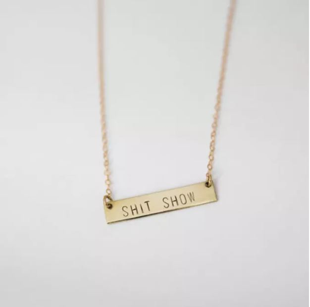 BANG-UP BETTY | Shit Show Necklace in Brass