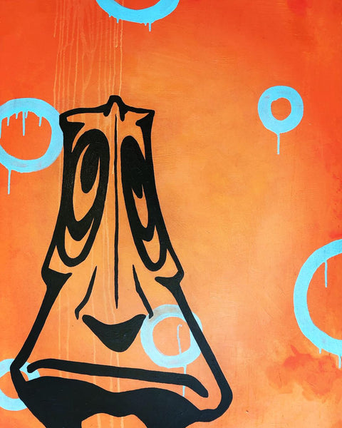 JUSTIN TOLENTINO | TRIBE OF DEPRESSION 1 of 2 34x48 Canvas