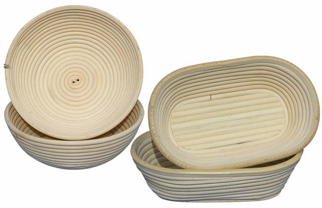 Banneton: Crafted Of Willow Round And Oval - Sold Separately  (Matfer Bourgeat)