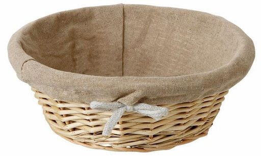 Wicker Basket For Bread Linen Lined  (Matfer Bourgeat)