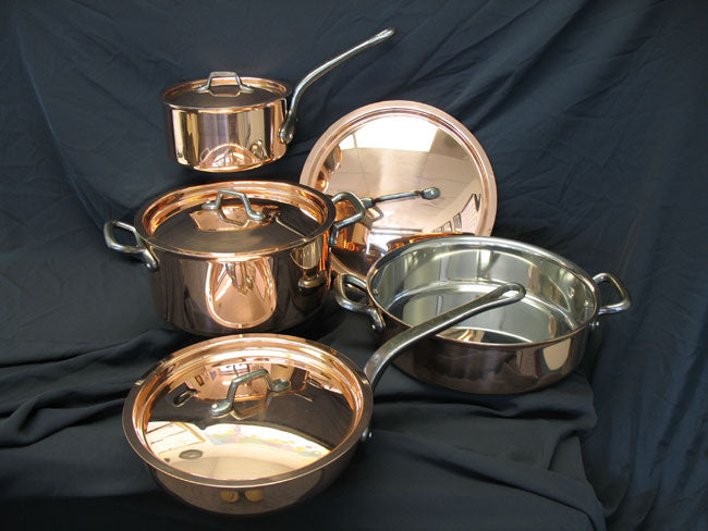 Matfer Bourgeat Cookware Set, 8 Piece Copper 915901  (Matfer Bourgeat)