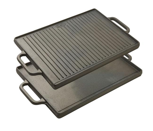 Reversible Griddle - Black Cast Iron With Two Handles,  (Matfer Bourgeat)