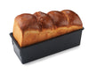 Exoglass bread pan with stainless cover: 1 kilogram - 2 pound dough - 11.4 length X 4 height X 4.33 width top X 4 width base