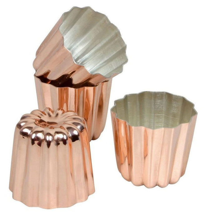 Cannele: Copper Tin Lined - Sold Individually  (Matfer Bourgeat)