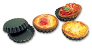 EXAL ALUMINUM NON-STICK FLUTED QUICHE MOLD  (Matfer Bourgeat)