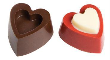 Hearts In Relief Mold - Polycarbonate (Matfer Bourgeat)