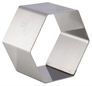 Nonnette Rings Hexagon. Pack Of 4  (Matfer Bourgeat)