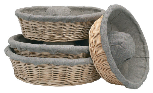 Banneton Linen Lined Basket Crown Shaped  (Matfer Bourgeat)